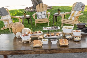 Outdoor gathering picnic