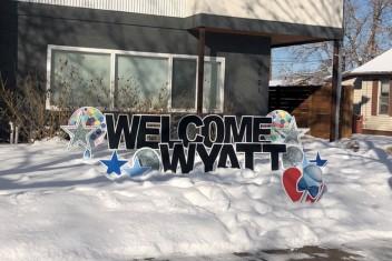 Welcome Wyatt Celebration Signage