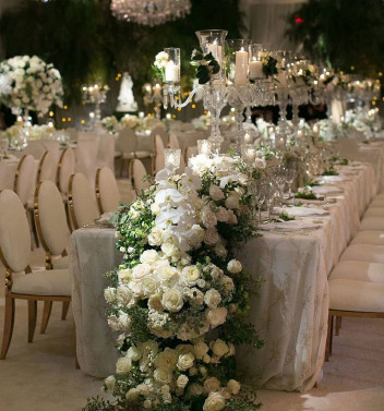 Luxurious Celebrations - Table Florals - Newberry Brothers